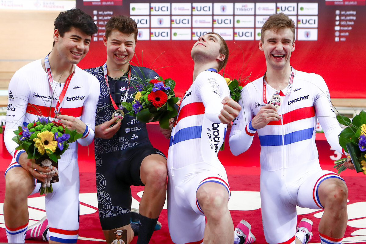 Amateur squad Team KGF win team pursuit gold as UCI Track Cycling World Cup concludes in Minsk