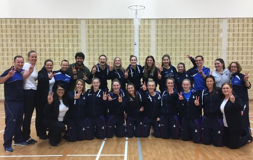 Scotland celebrate after clinching their place in the 2019 Netball World Cup ©Twitter