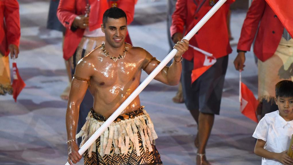 Shirtless Tongan Rio 2016 flagbearer qualifies for Winter Olympics