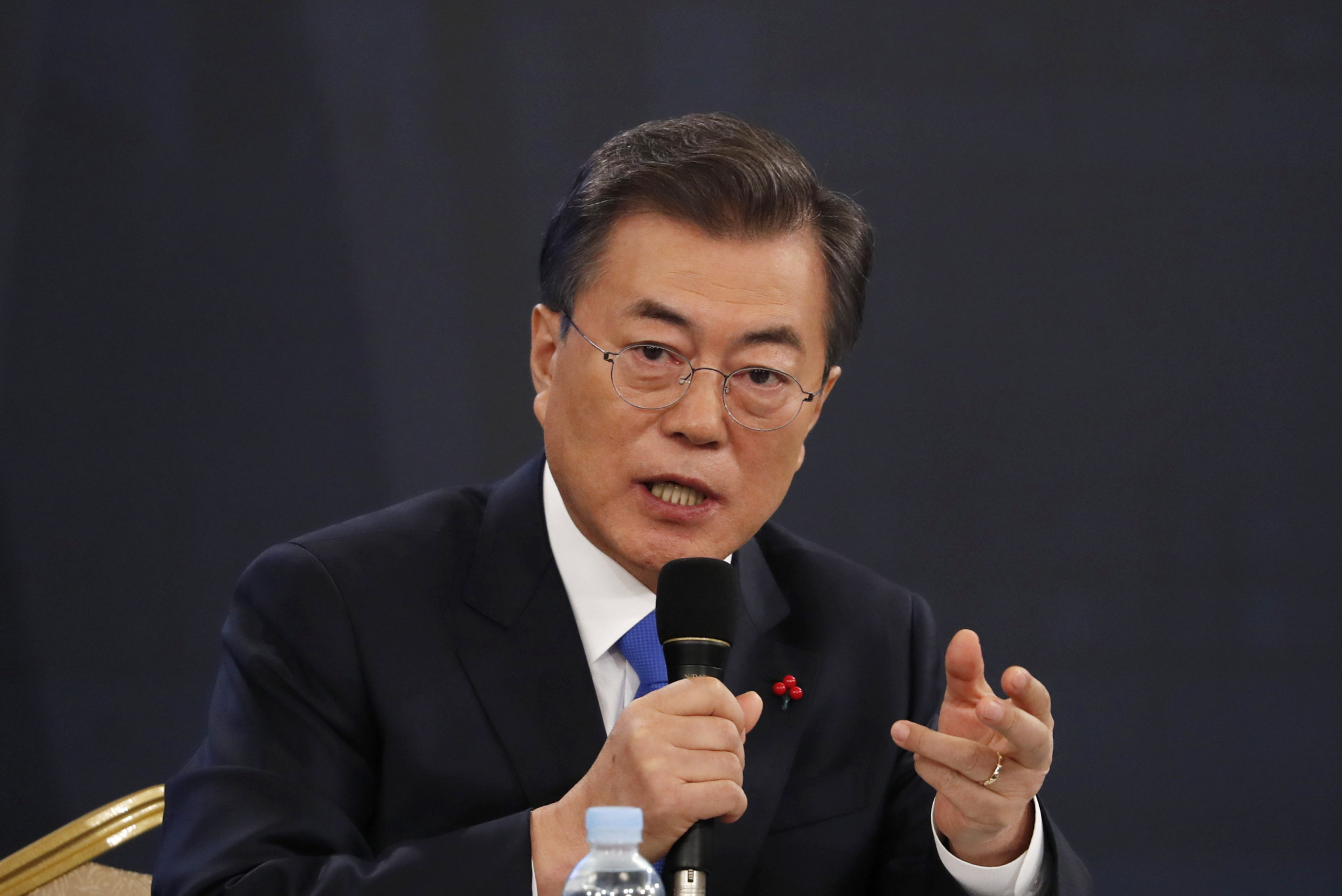 South Korean President Moon Jae-in has called upon the public to support North Korean involvement in the Games ©Getty Images