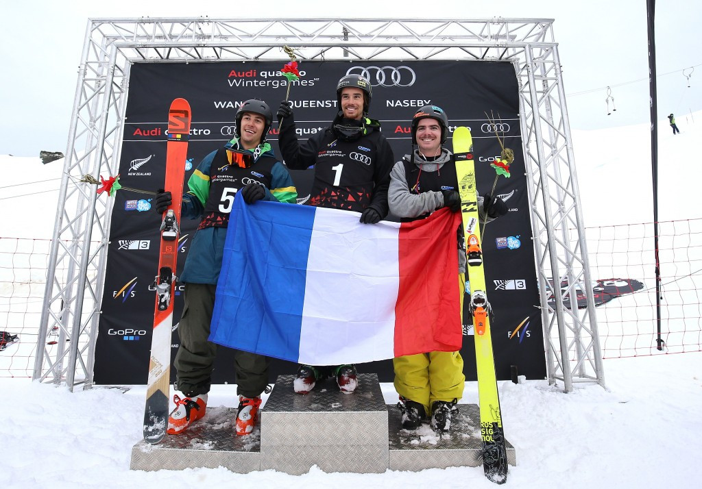 Rolland leads French clean sweep at halfpipe skiing World Cup