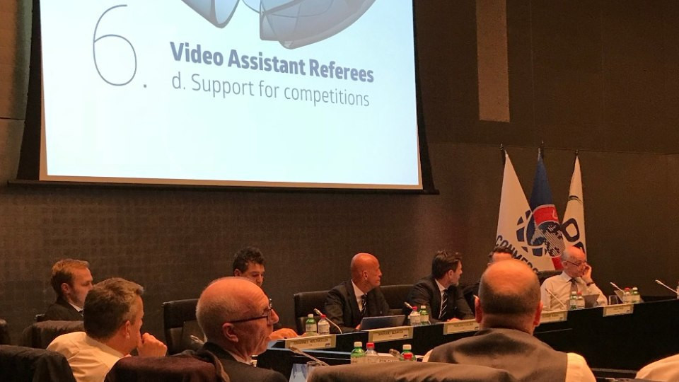 VAR proved the focus of the IFAB meeting but a decision on future use will be taken in March ©IFAB