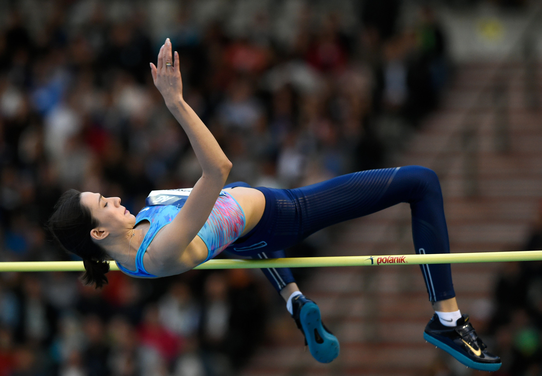 World champion high jumper Maria Lasitskene is one of 88 Russian athletes to submit a request to the IAAF ©Getty Images
