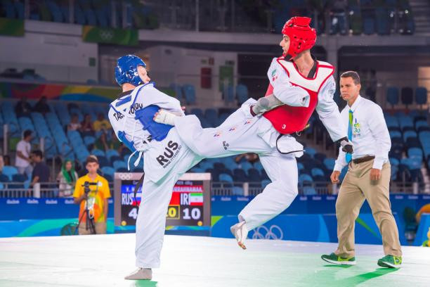 Mehdi Pourrahnamaahmad, right, has lost just one match in the last five years ©World Taekwondo