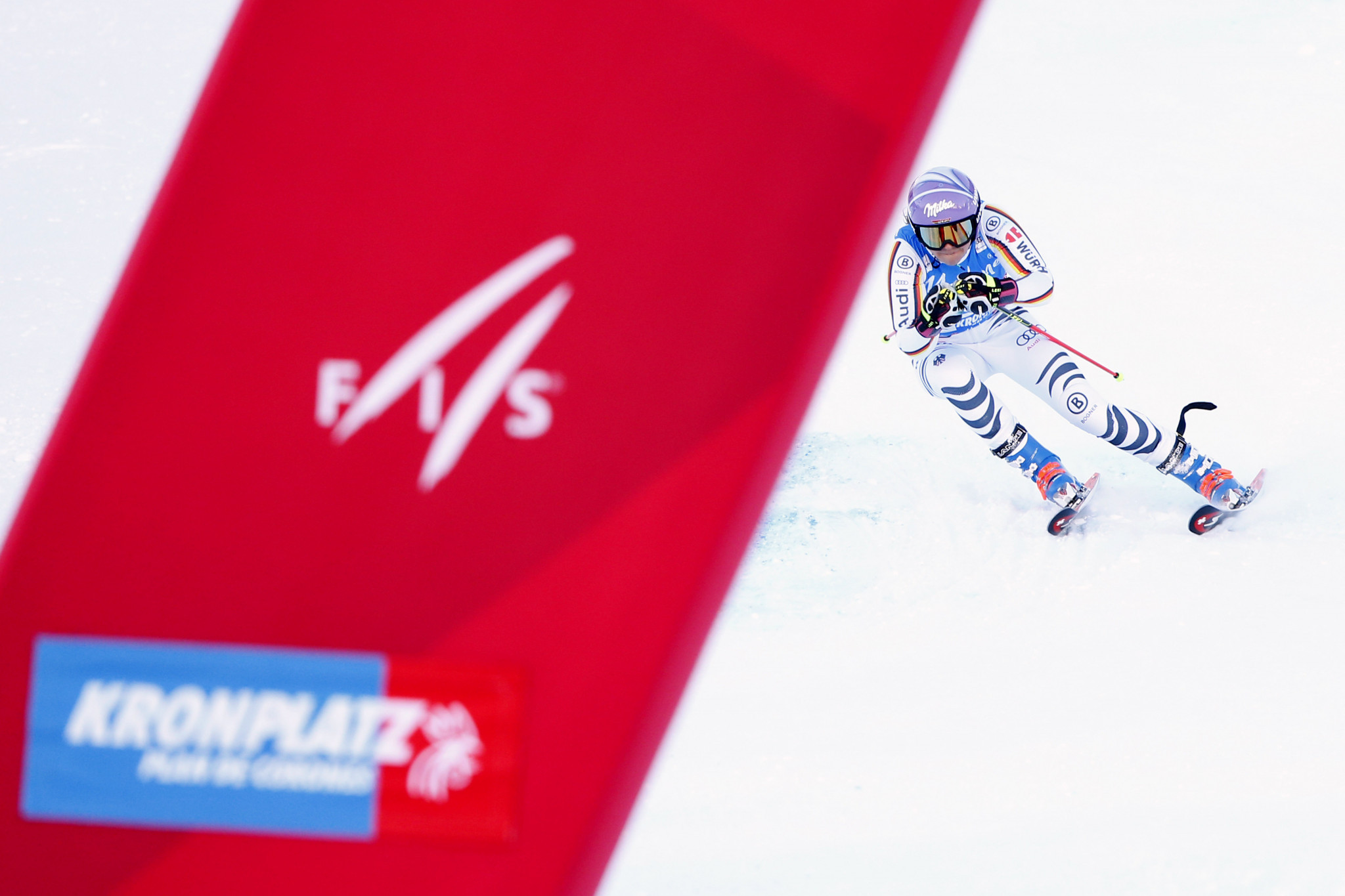 Viktoria Rebensburg clinched victory today in Kronplatz ©Getty Images