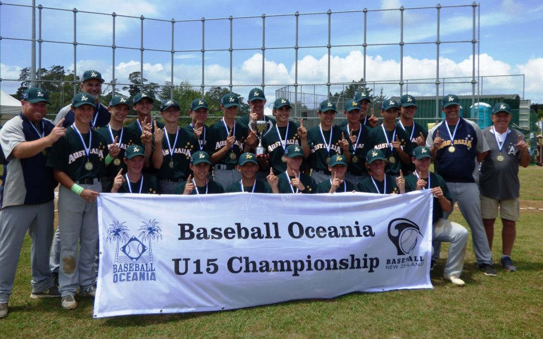 Australia qualify for WBSC Under-15 Baseball World Cup