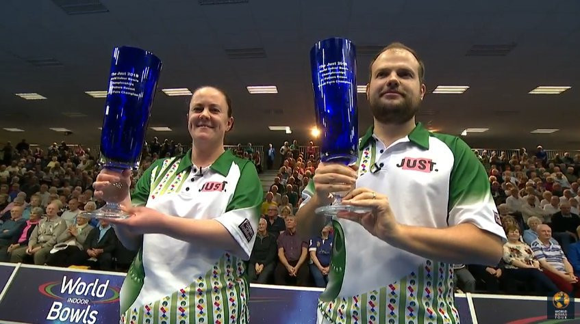 Chestney and Doig claim mixed pairs title at World Indoor Bowls Championships