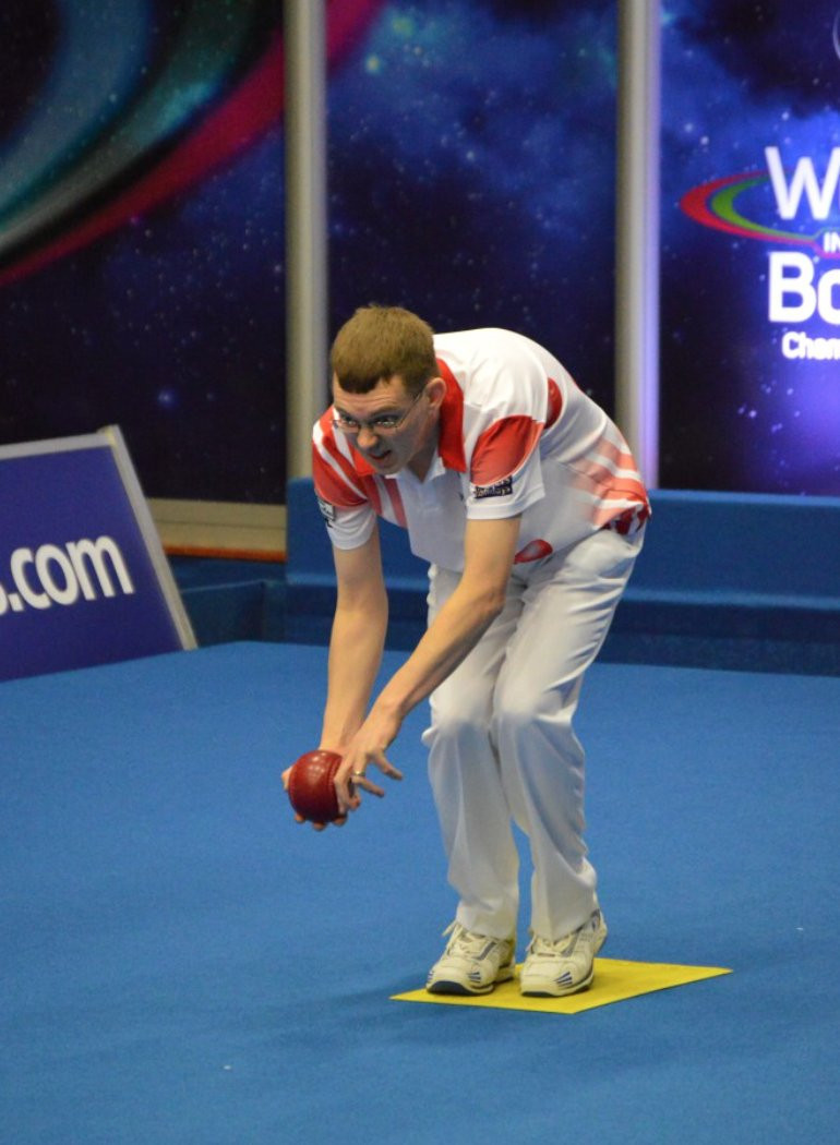 Mark Dawes followed up on his victory in the open pairs final yesterday with a win in his men's singles tie ©Bowls Worldwide