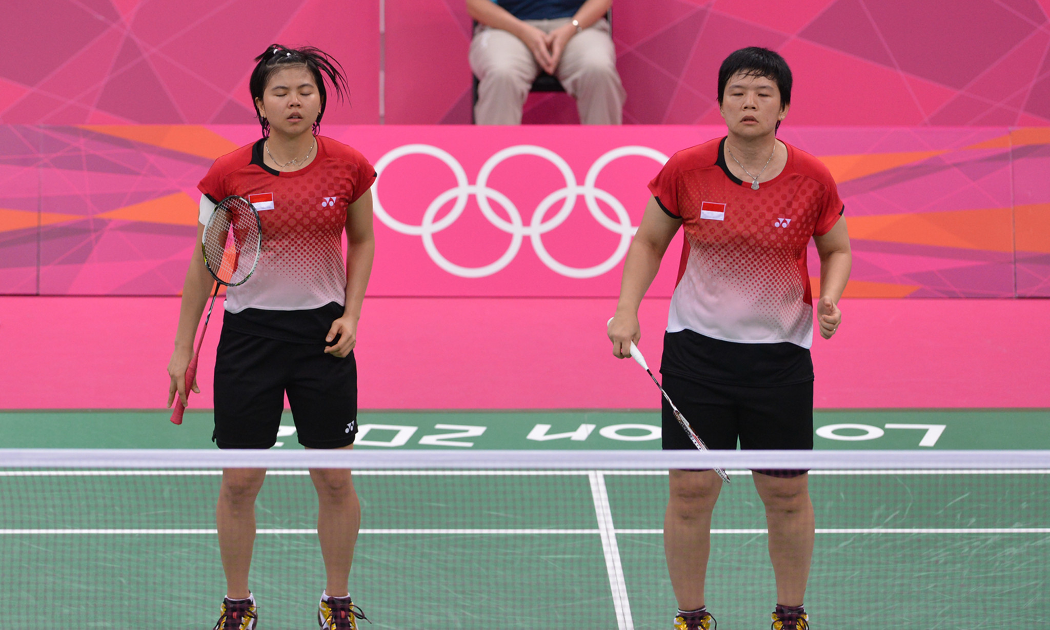 Greysia Polii, left, and Meiliana Jauhari, right, were involved in a disputed match at London 2012 ©Getty Images