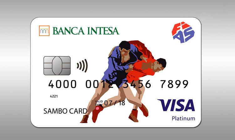 The International Sambo Federation and Intesa Bank released a new debit card last month  ©FIAS