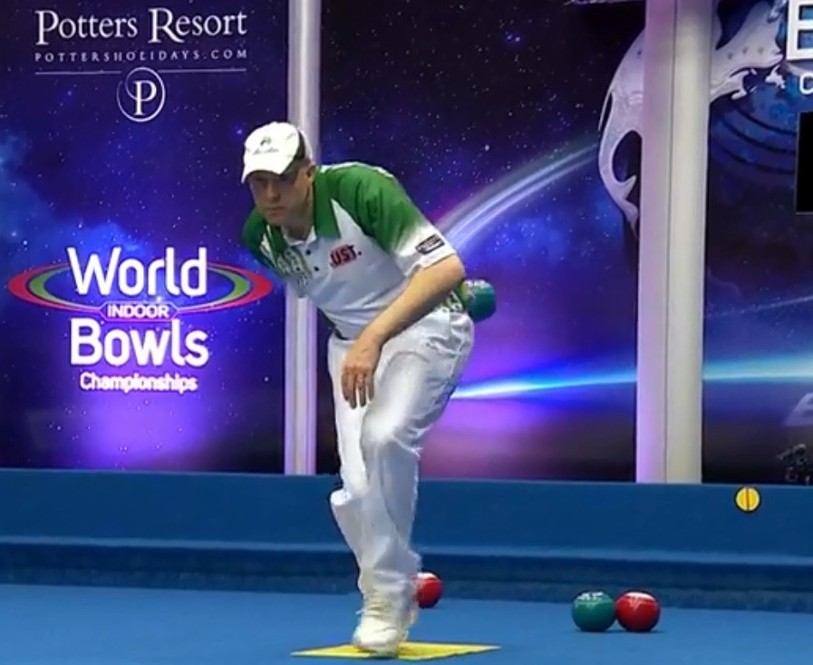 Greenslade knocks out defending champion at World Indoor Bowls Championship