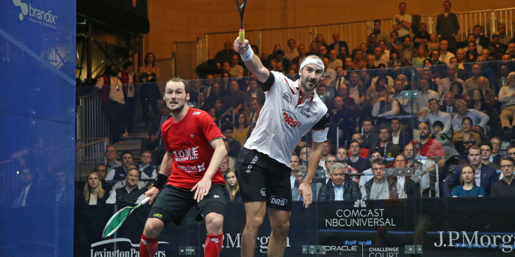 Rösner, right, will be Germany's first-ever PSA World Tour finalist ©PSA