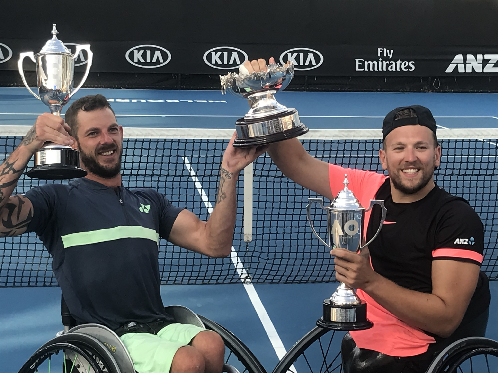 Alcott and Davidson give home fans reason to celebrate with quads victory at Australian Open