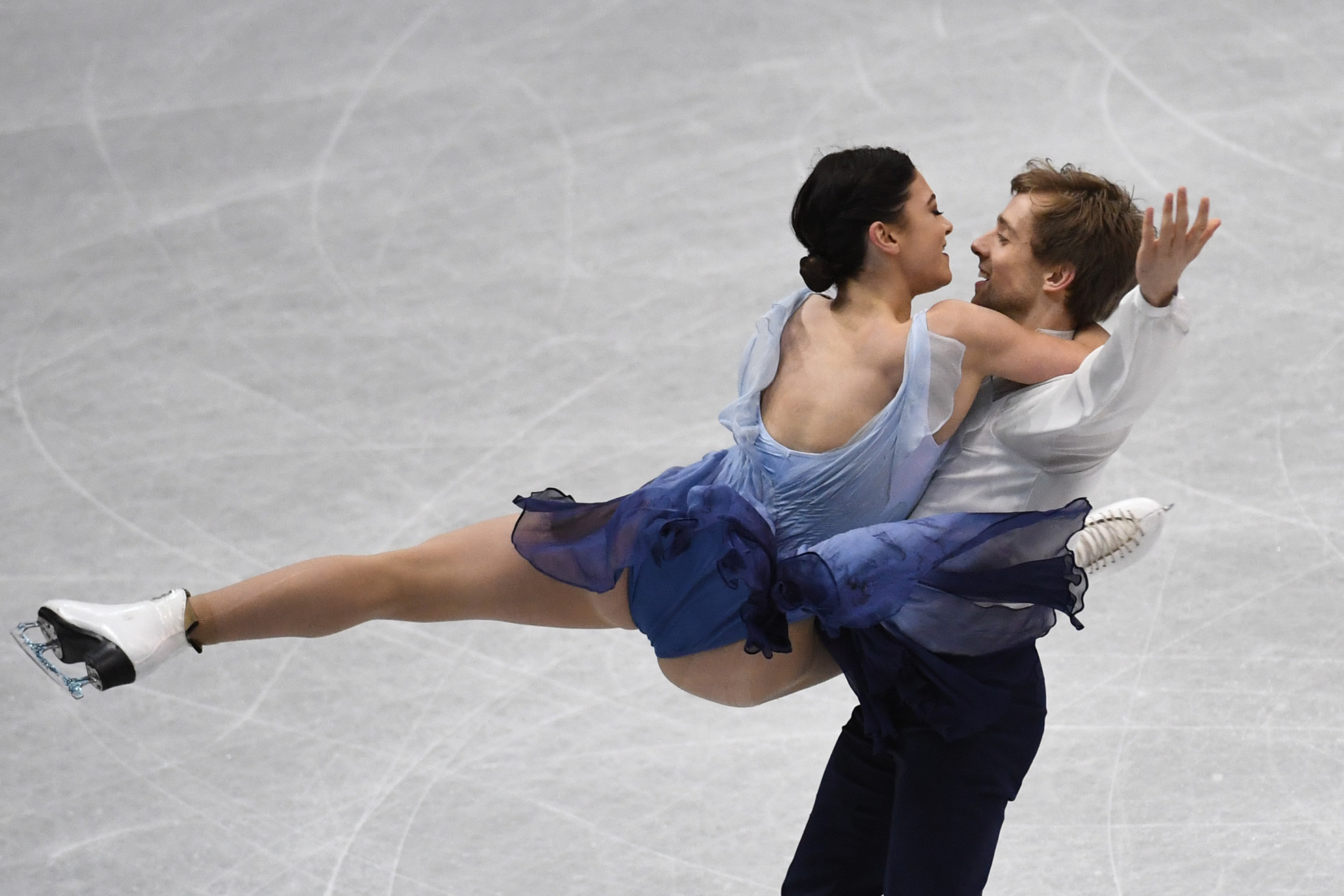 Kaitlin Hawayek and Jean-Luc Baker claimed their first-ever senior ISU title in Taipei ©Getty Images