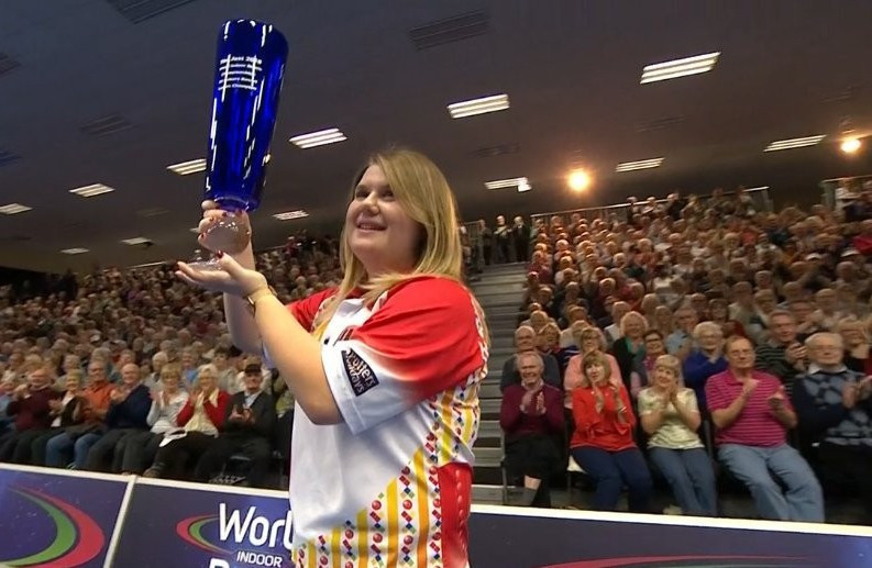 Rednall defends ladies title at World Indoor Bowls Championships