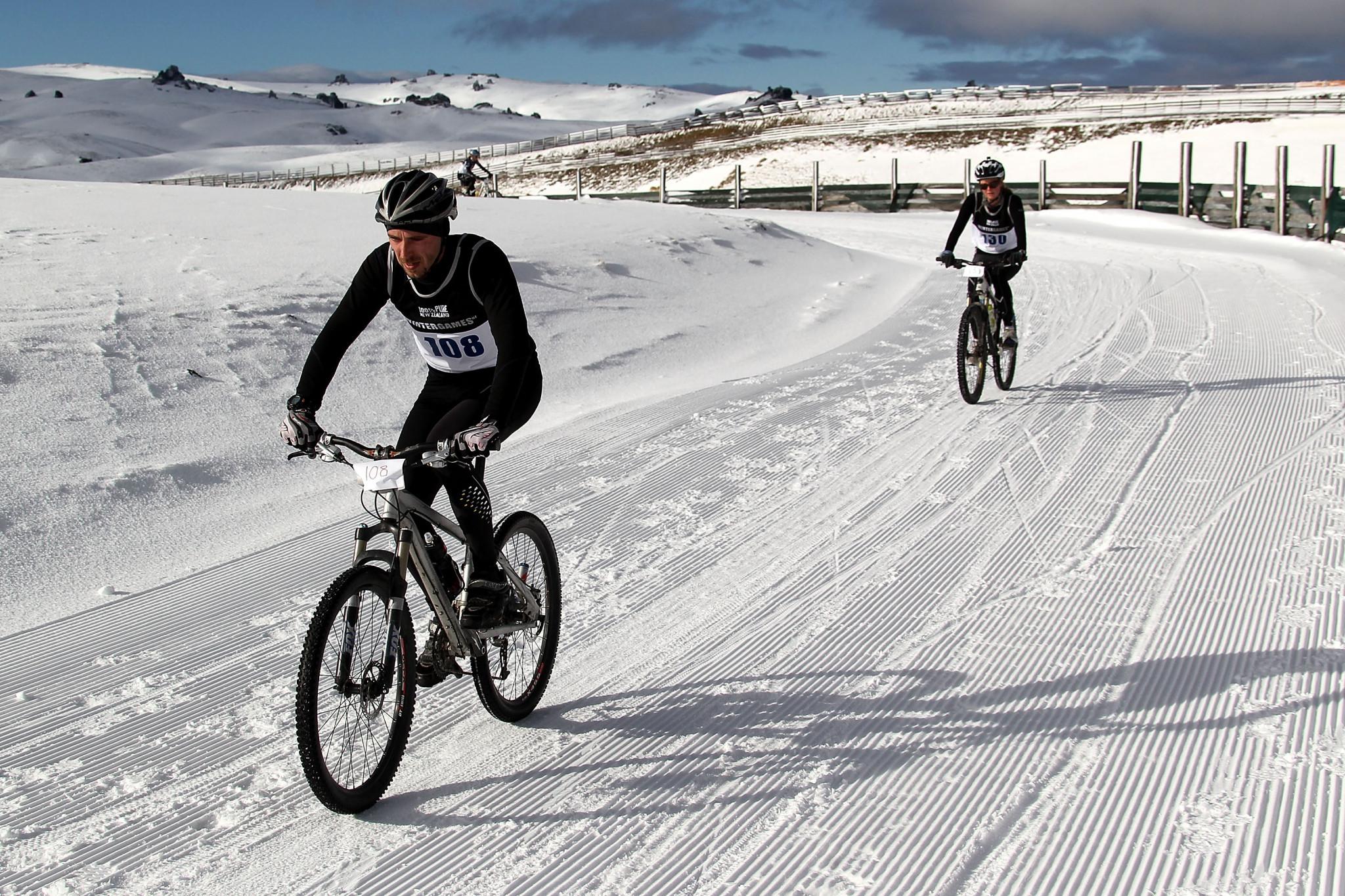 Winter triathlon involves running, bike and ski legs ©Getty Images