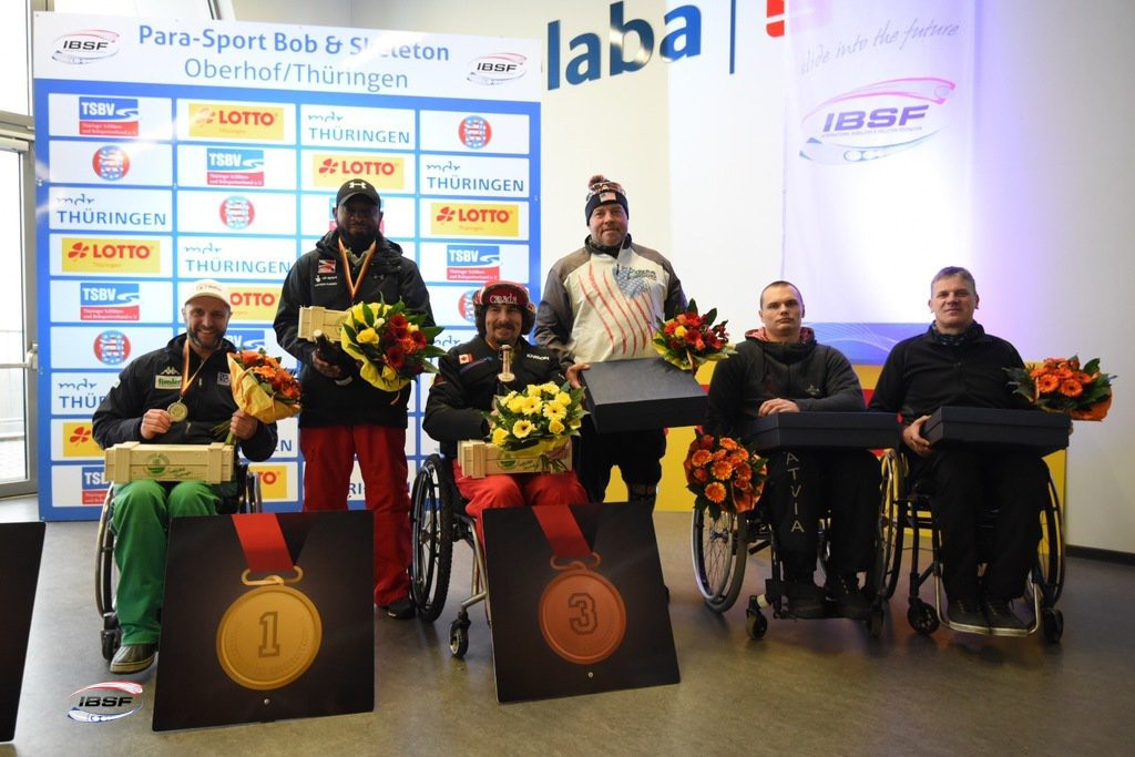 Britain's Corie Mapp strengthened his lead at the top of the standings with a second consecutive win in Oberhof ©IBSF