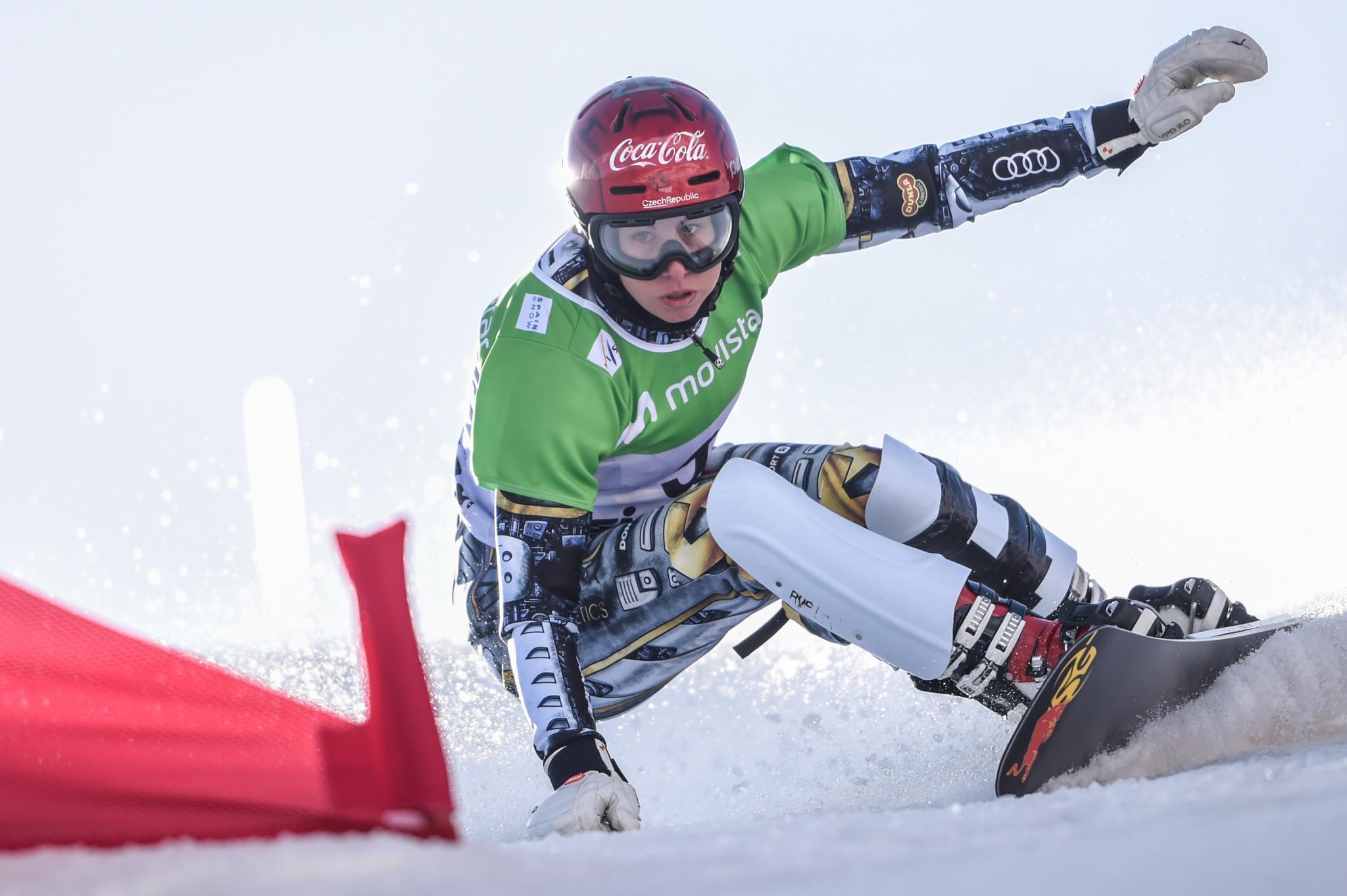 Ester Ledecká continued her domination of the parallel snowboard season ©Getty Images