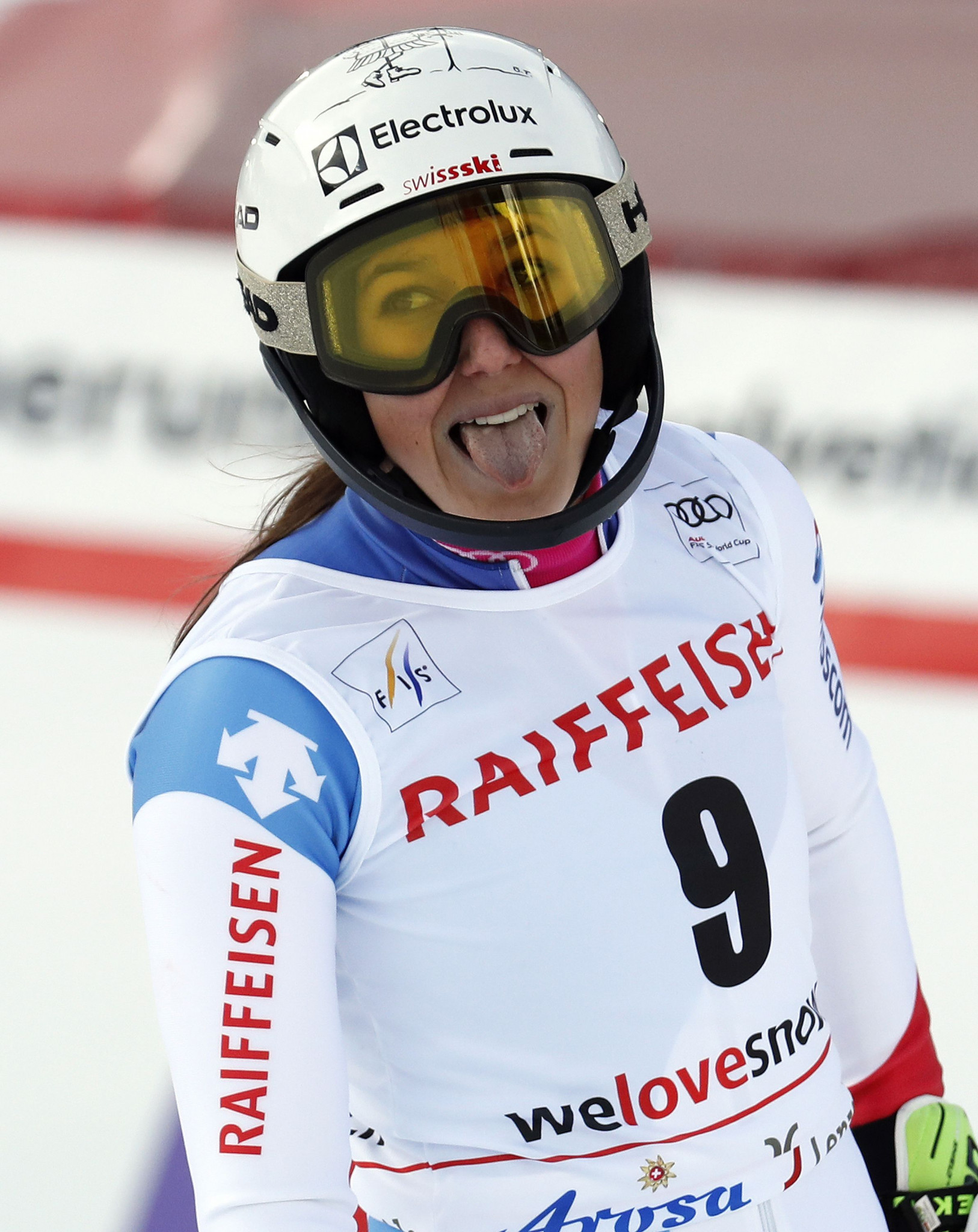Switzerland's Wendy Holdener celebrates a home win in the FIS World Cup Alpine Combined event ©Getty Images