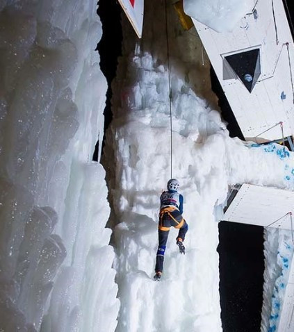 Rabenstein presented a challenging test for UIAA ice climbers in the second leg of the World Tour ©UIAA