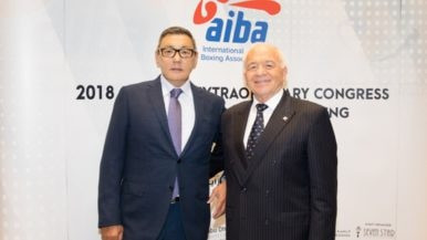 Gofur Rakhimov, left, has taken over as interim AIBA President after Franco Falcinelli , right, stepped down ©AIBA