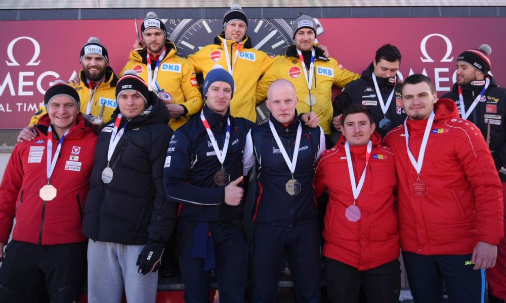 Germany claim gold and silver in two-man bobsleigh at IBSF Junior World Championships