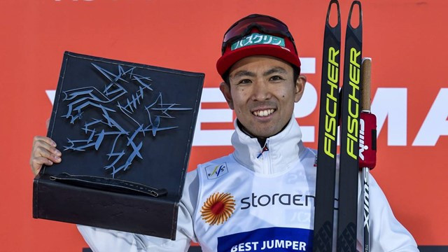 Watabe two-thirds of the way to clean sweep of Seefeld Triple  in FIS Nordic Combined World Cup