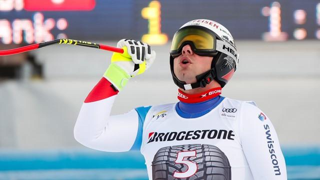 Swizerland's world downhill skiing champion Beat Feuz acclaims victory at the FIS World Cup in Garmisch-Partenkirchen ©FIS