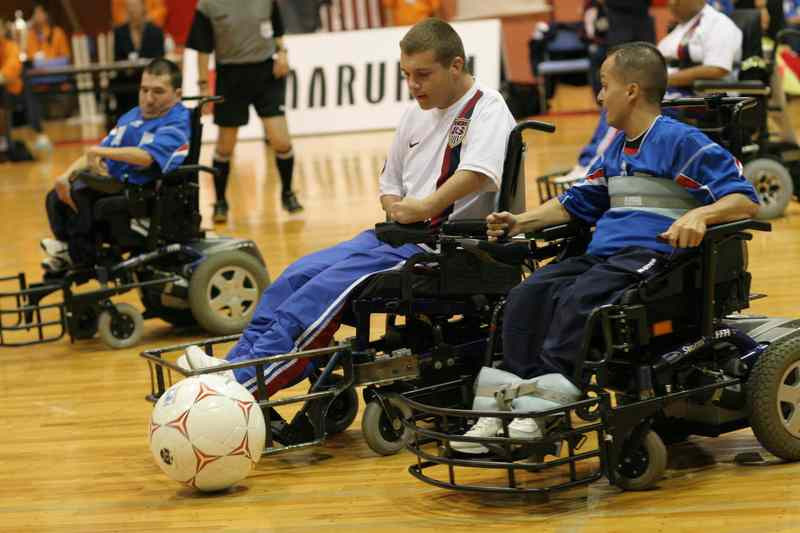 Powerchair football could become a Paralympic sport for the first time at Paris 2024 ©Getty Images