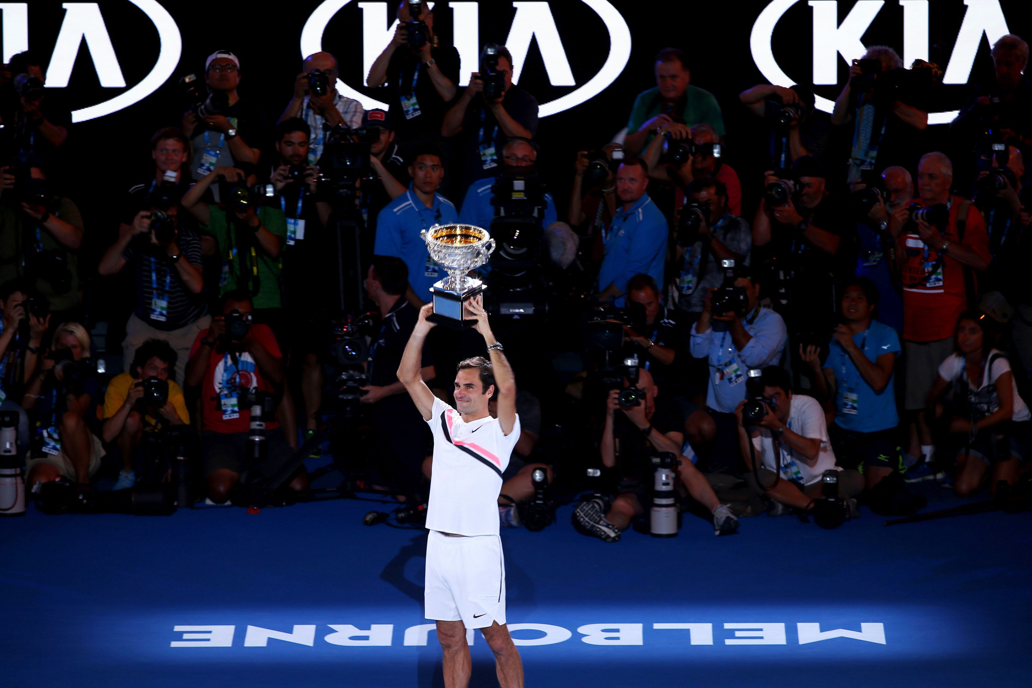 Federer sets up Cilic showdown after Chung retirement
