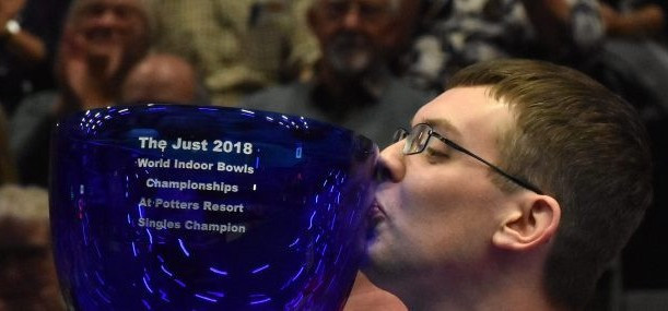 Mark Dawes became a new men's singles champion at the World Indoor Bowls Championships ©WorldBowlsTour