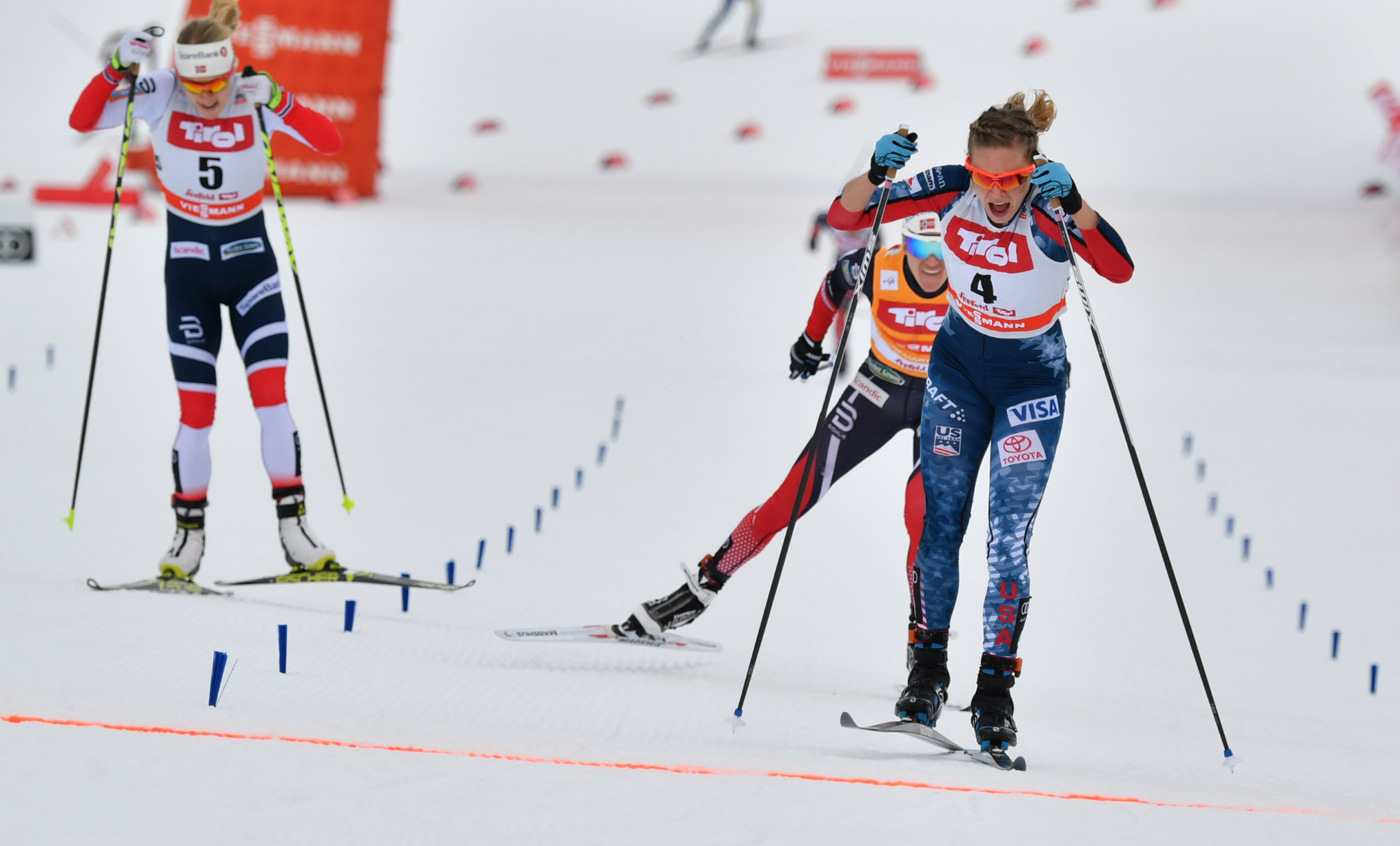 Diggins and Cologna win final FIS Cross-Country World Cup races before Pyeongchang 2018