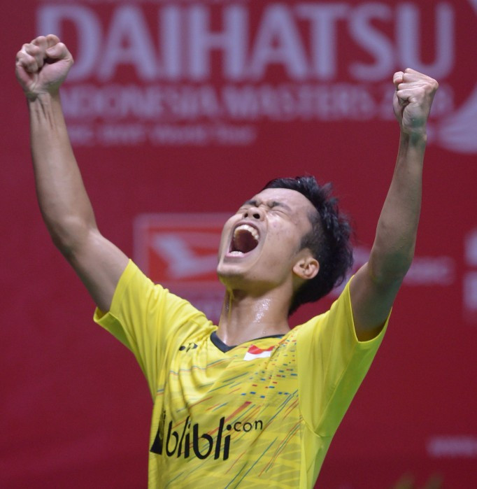 Ginting strikes home gold in BWF Indonesia Masters final