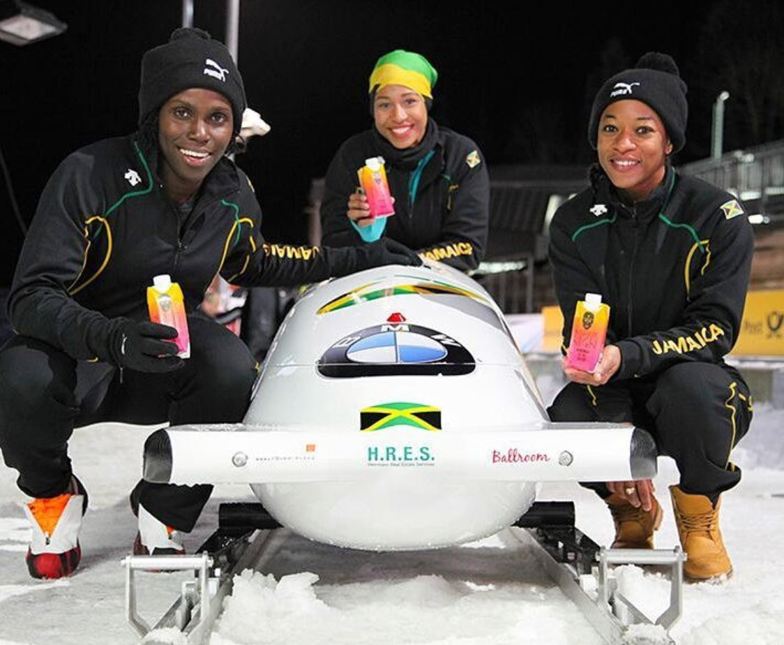 Jamaica have qualified for the women's Olympic bobsleigh competition for the first time ©Twitter