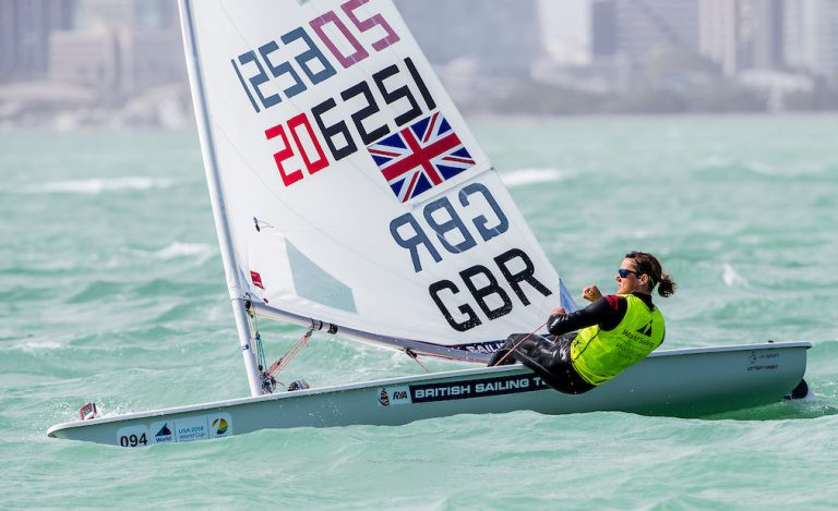 Young comes through challenge to earn laser radial gold at Miami World Cup