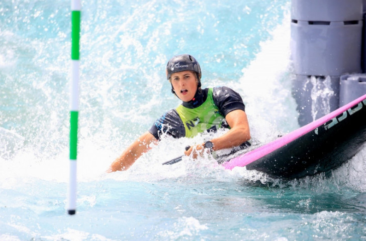 New Zealand's Luuka Jones took silver in the Women's C1 final of the Oceania Canoe Slalom Championships on her home water in Auckland ©ICF