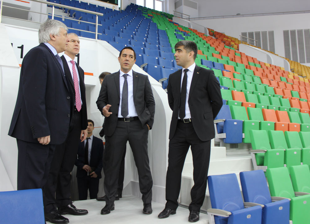 The FISU delegation toured Ashgabat's Olympic Park ©FISU