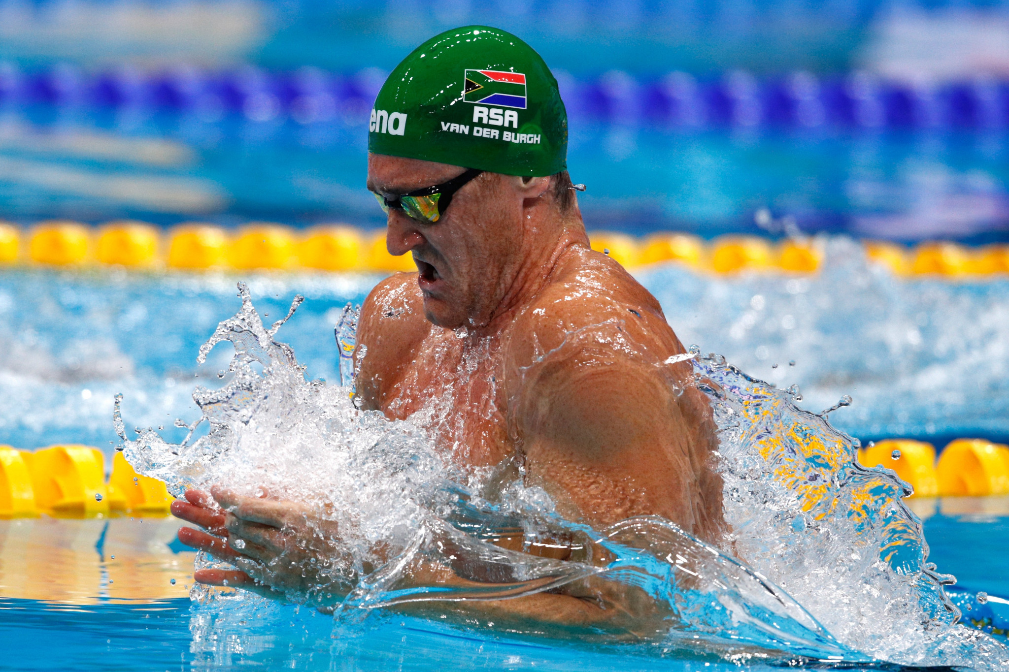 Cameron van der Burgh is among the 23 swimmers named on the team ©Getty Images