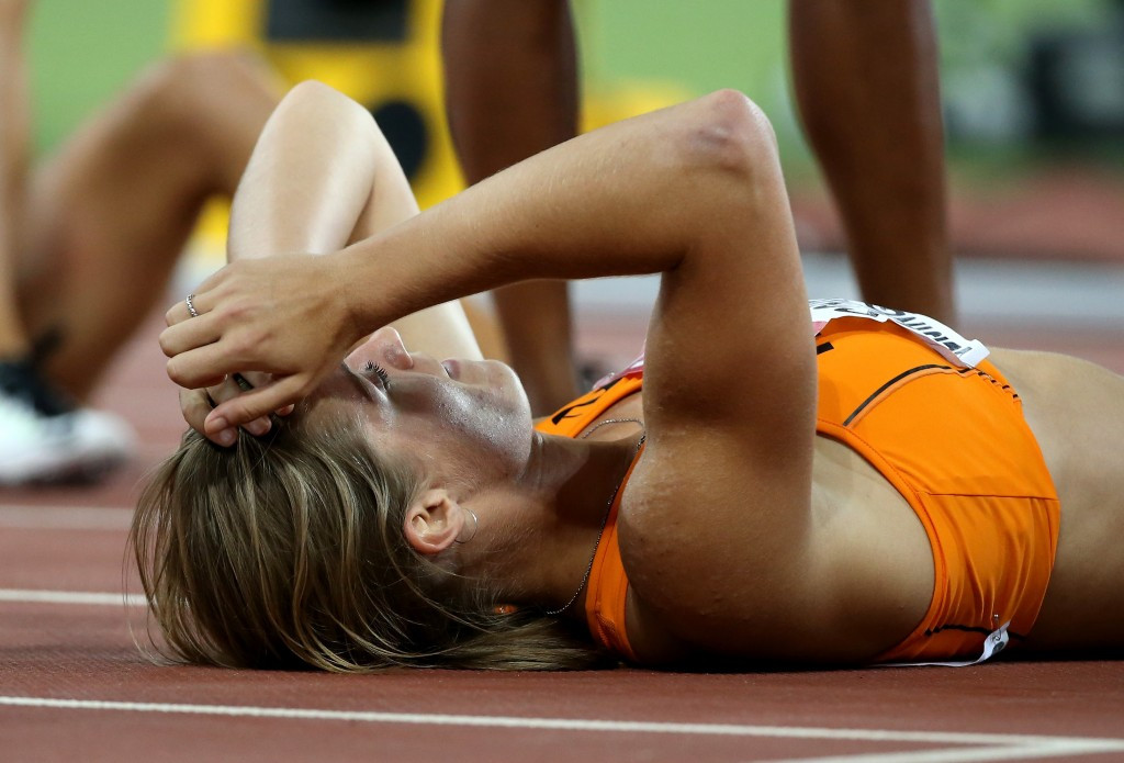 Dafne Schippers takes 200m title on day of first China gold at World Athletics Championships