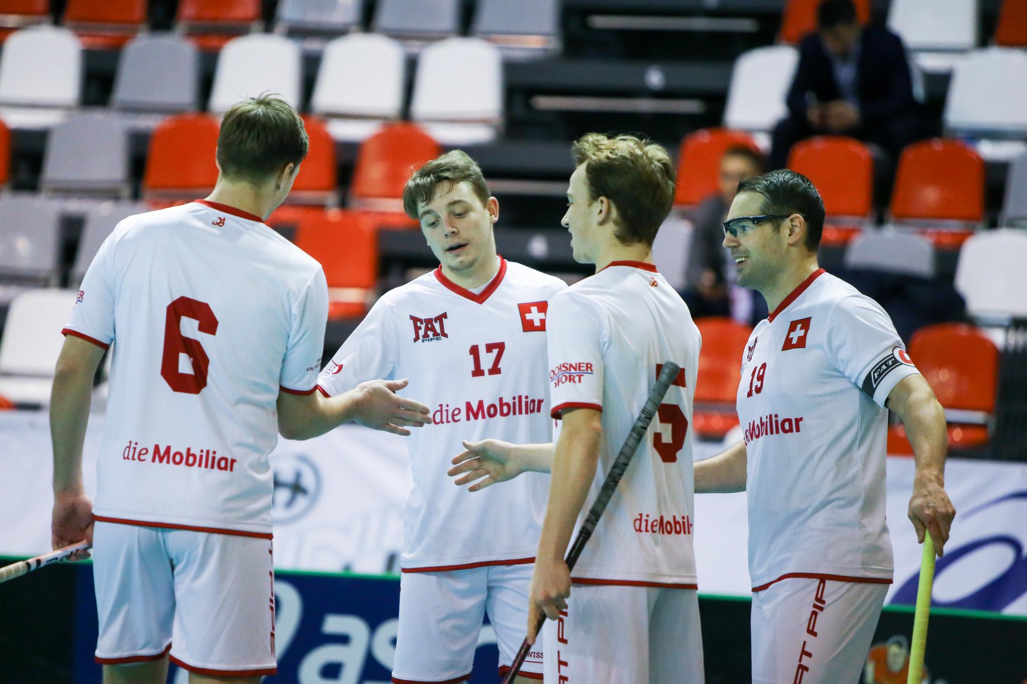 Switzerland thrash Italy on opening day of European qualifier for Men's World Floorball Championships
