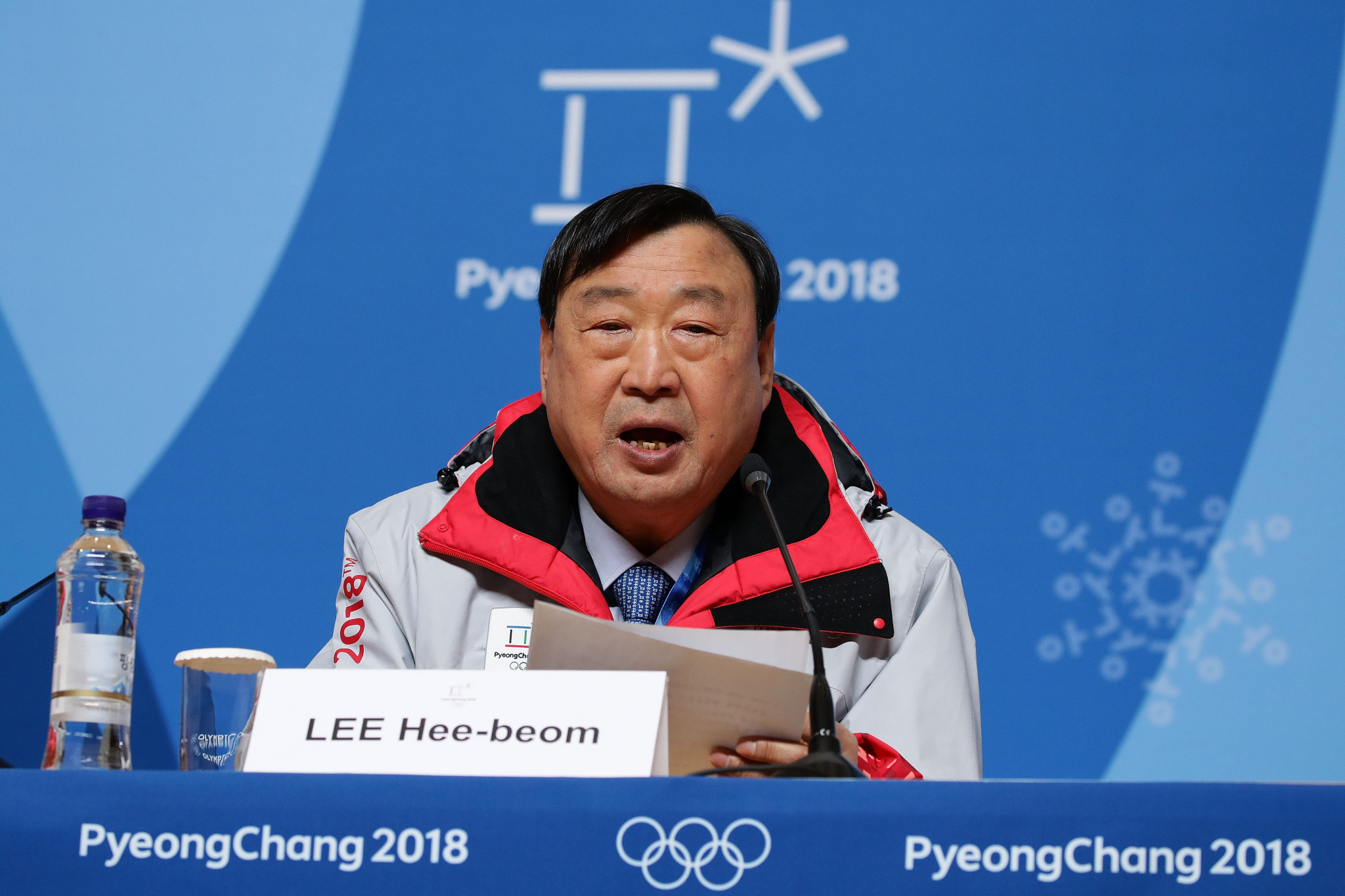 Pyeongchang 2018 President Lee Hee-beom claimed 74 per cent of tickets for the Winter Olympics had been purchased so far but some remain for the Opening Ceremony on February 9 ©Getty Images