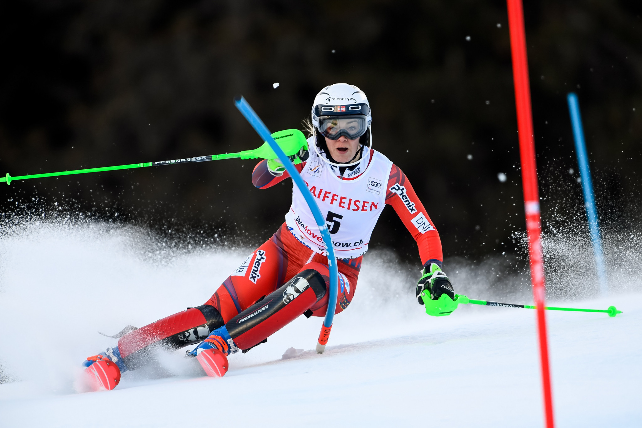 Norway's Nina Haver-Loeseth won the women's parallel slalom city event ©Getty Images