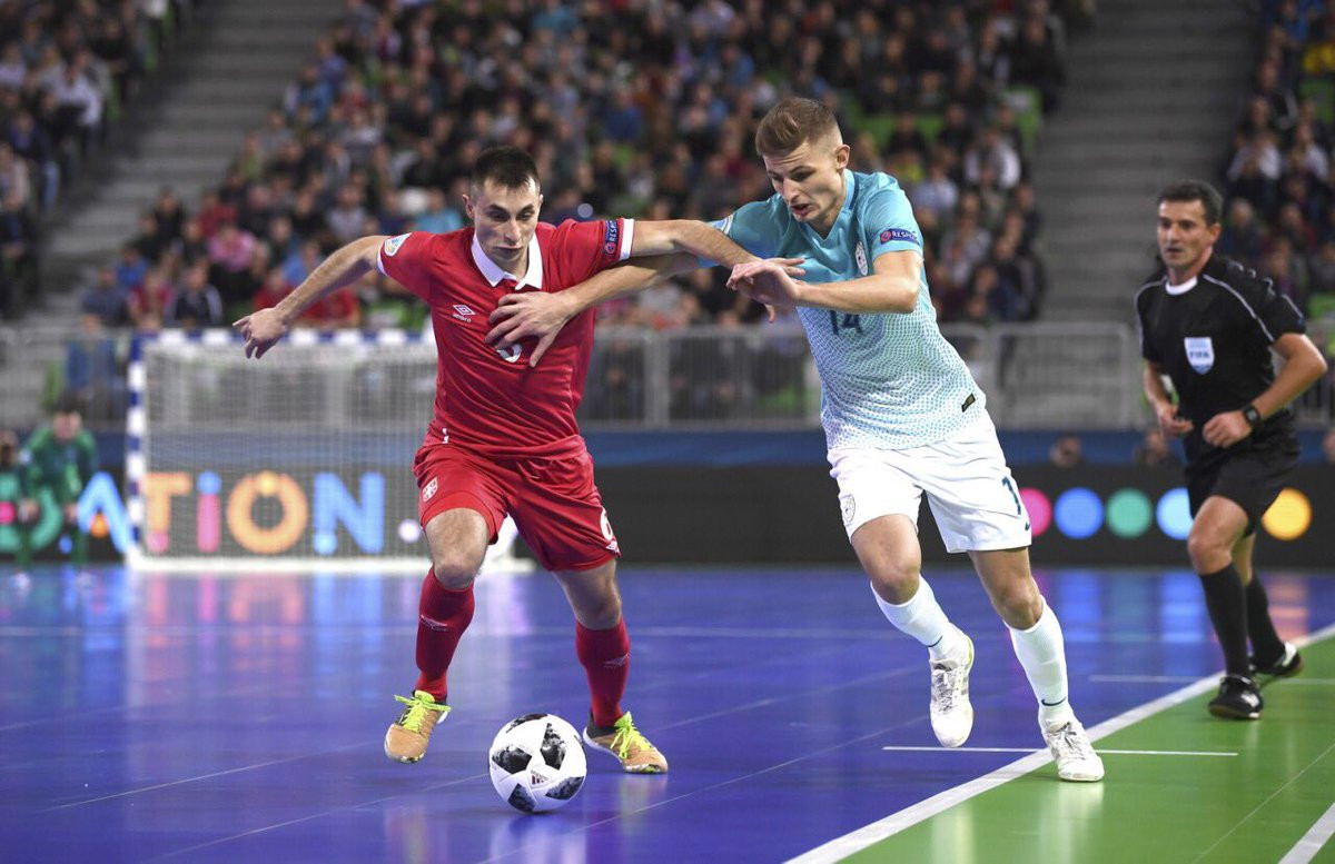 Serbia deny hosts Slovenia with late equaliser at UEFA Futsal Championship