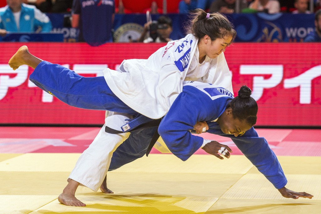 Zhanar Kashkyn was one of the home judokas hoping to make an impression on day five ©Getty Images