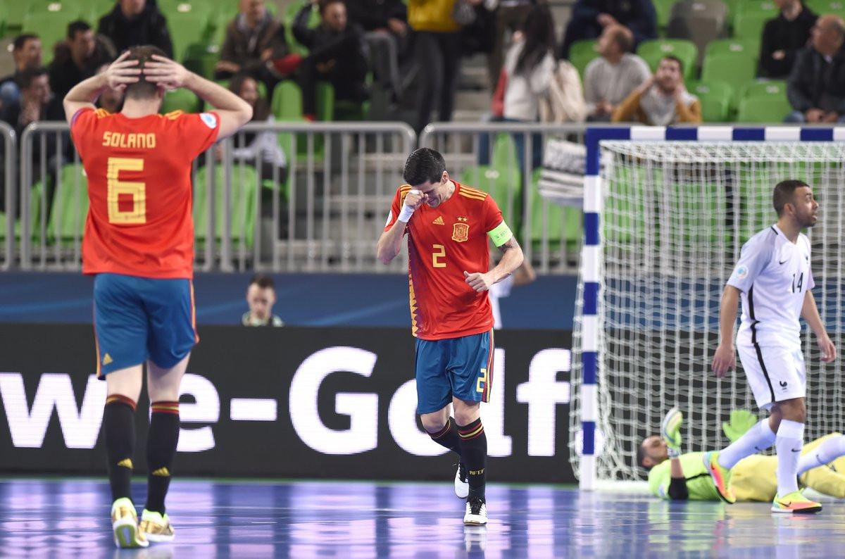 Spain hit back to hold debutants France at UEFA Futsal Championships