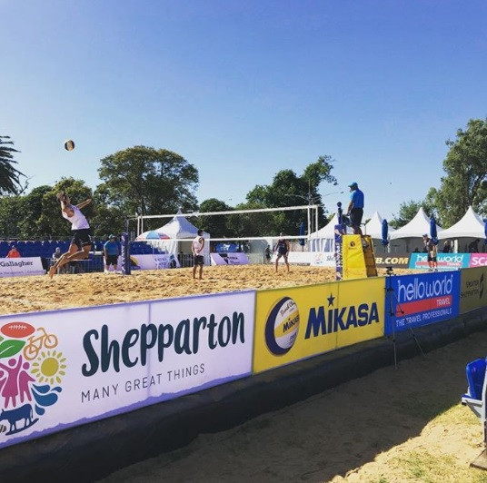 Shepparton hosted a FIVB Beach Volleyball World Tour in March 2017 ©cdembowski/Instagram
