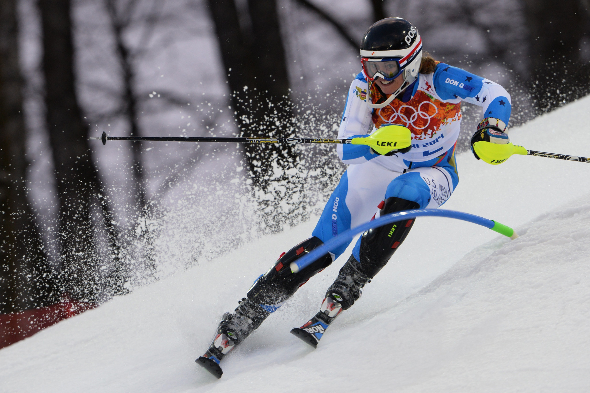 Alpine skier Jasmine Campbell was the only athlete from the US Virgin Islands to compete at Sochi 2014 ©Getty Images