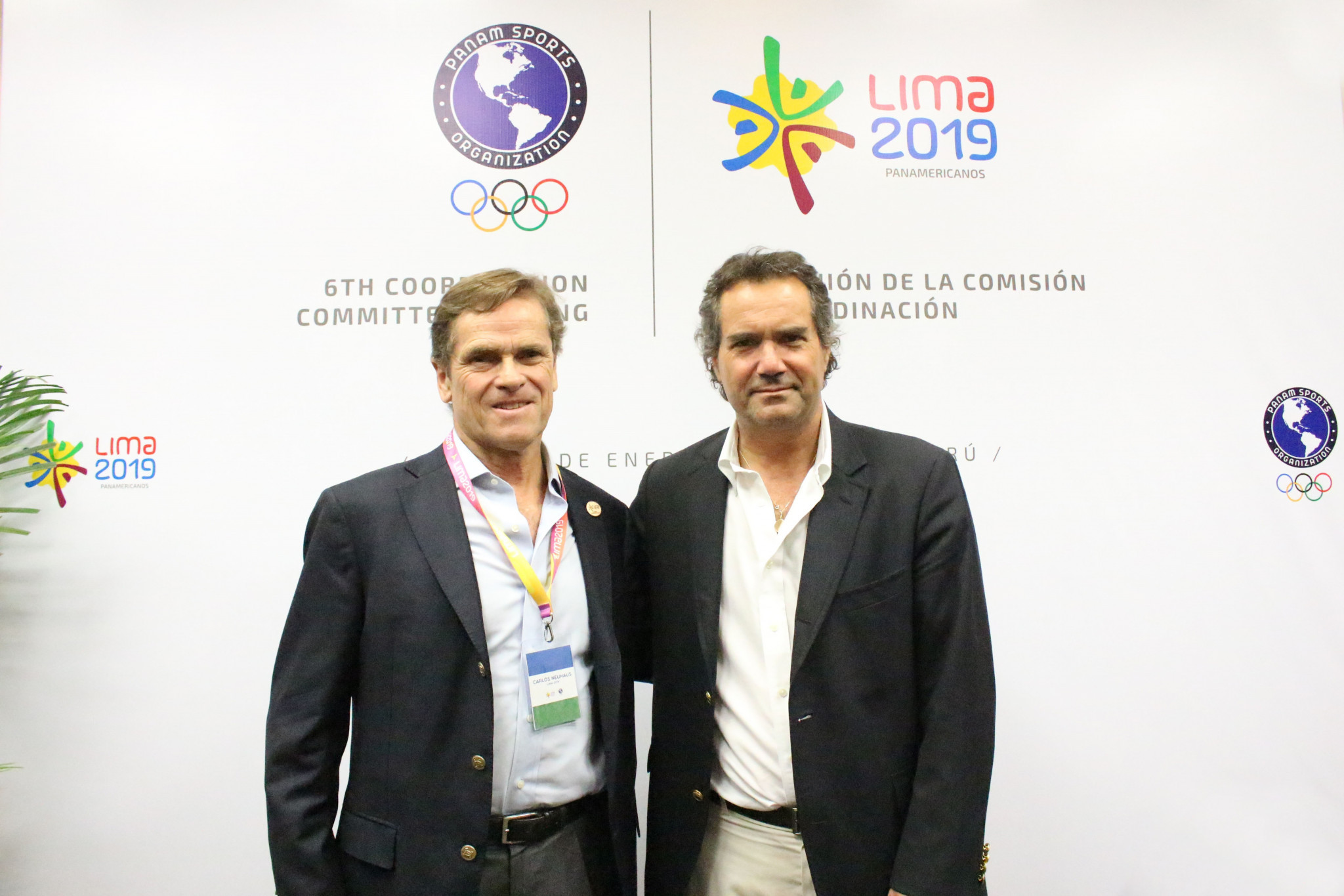 Lima 2019 President Carlos Neuhaus welcomed PanAmSports counterpart Neven Ilic on the visit ©Lima 2019