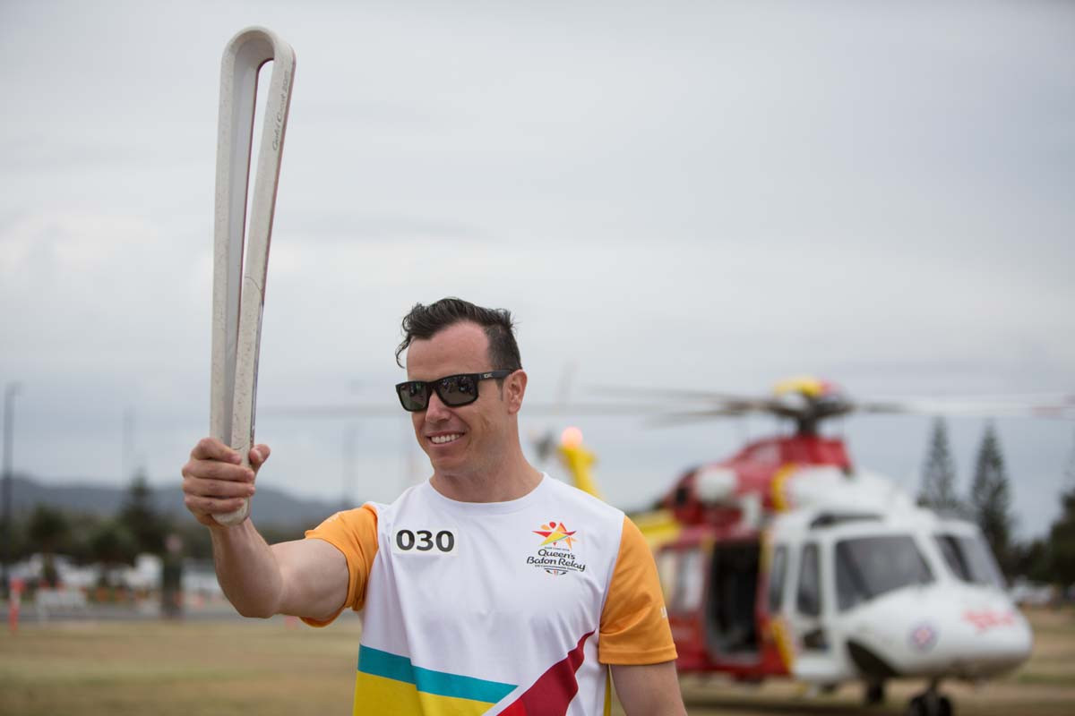 The Baton was taken to Coffs Harbour via a helicopter ©Gold Coast 2018