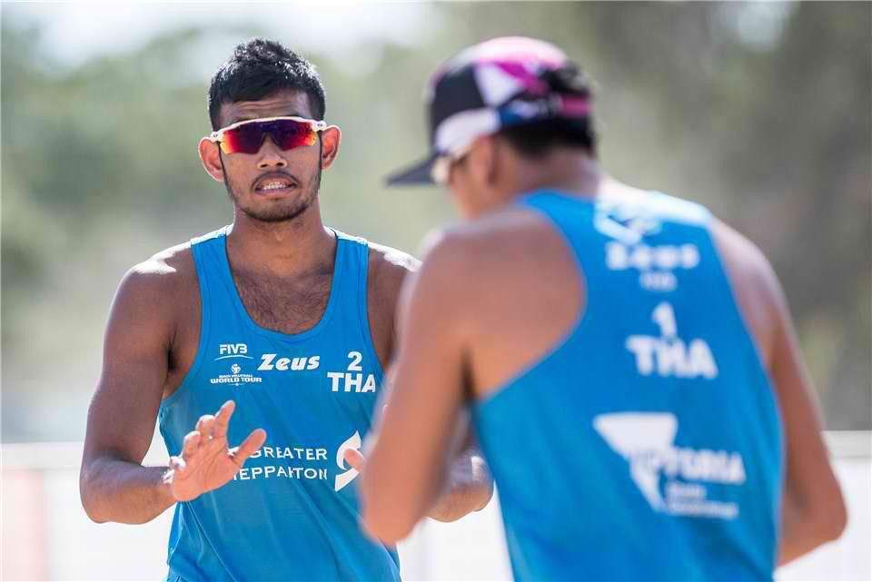 Nuttanon Inkiew and Sedtawat Padsawud currently top Pool D ©FIVB